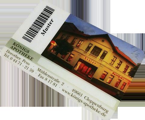 Königs Apotheke Kundenkarte Rückseite